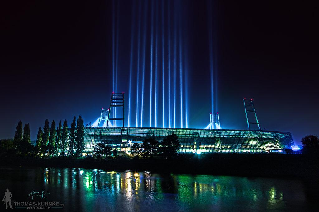 Weserstadion Light on